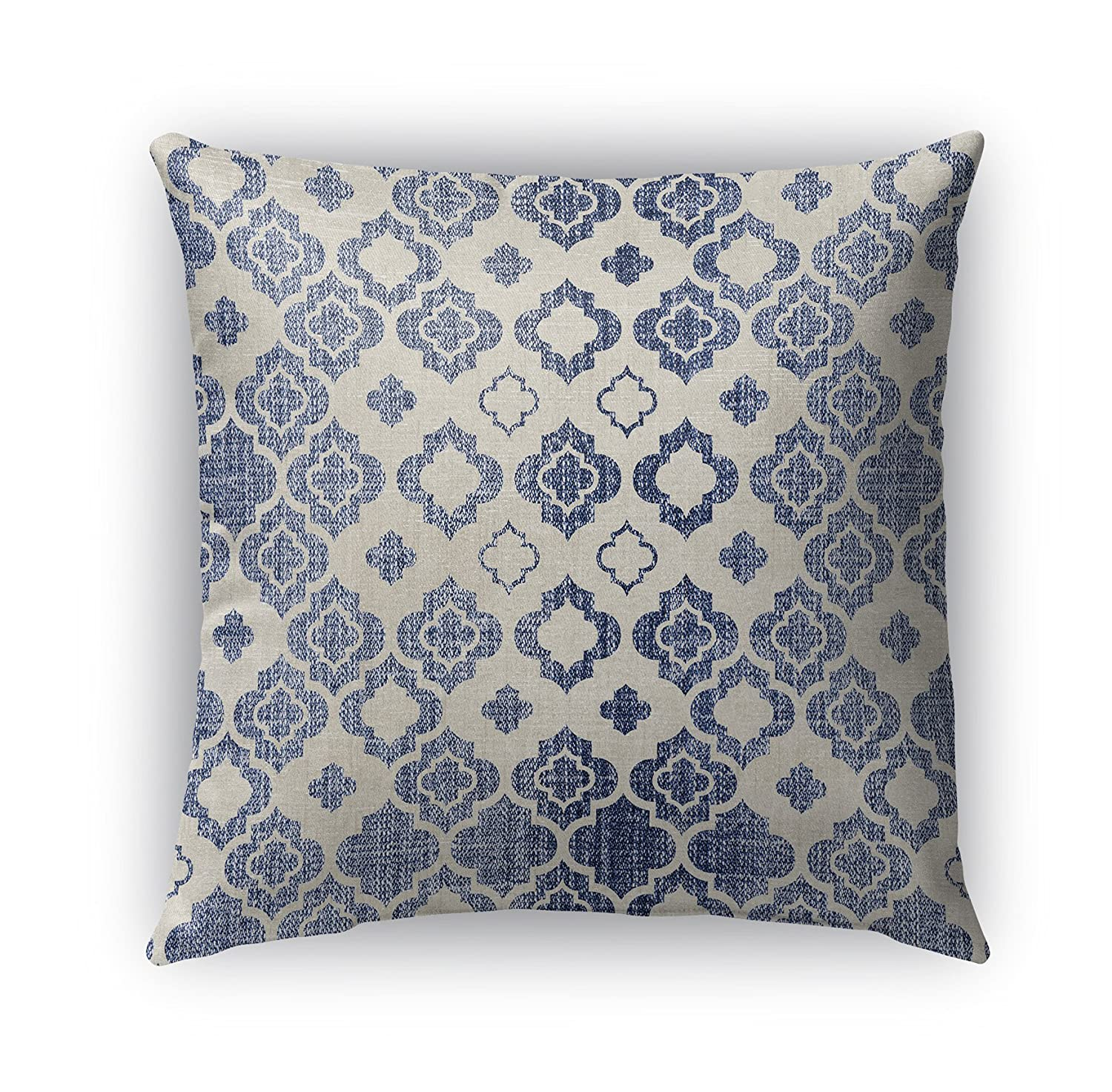 KAVKA Designs Cagliari Indoor-Outdoor Pillow, Size: 18X18X6 - TELAVC1473OD18 Blue//Ivory - Encompass Collection