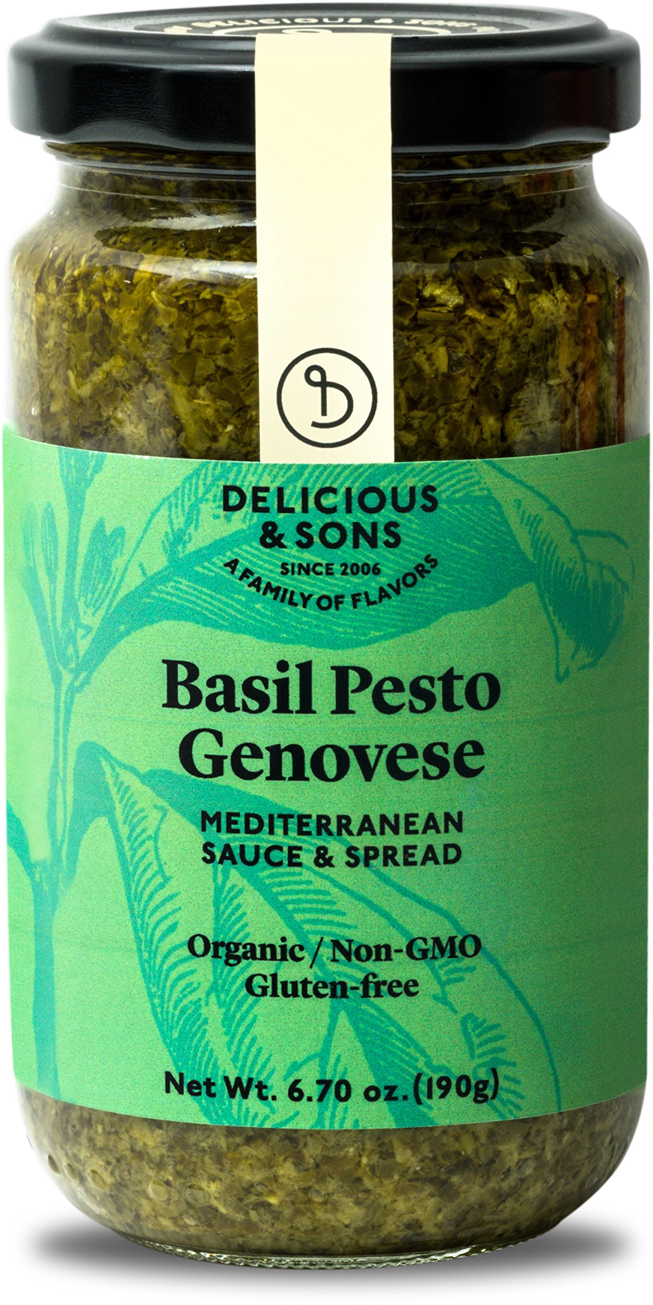 Delicious & Sons Organic Basil Pesto Genovese 6.70 oz.