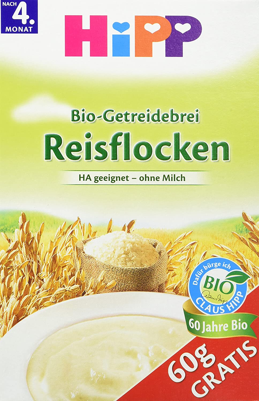 HiPP Schmelzende Reisflocken, glutenfrei, 4er Pack (4 x 350 g) 2919