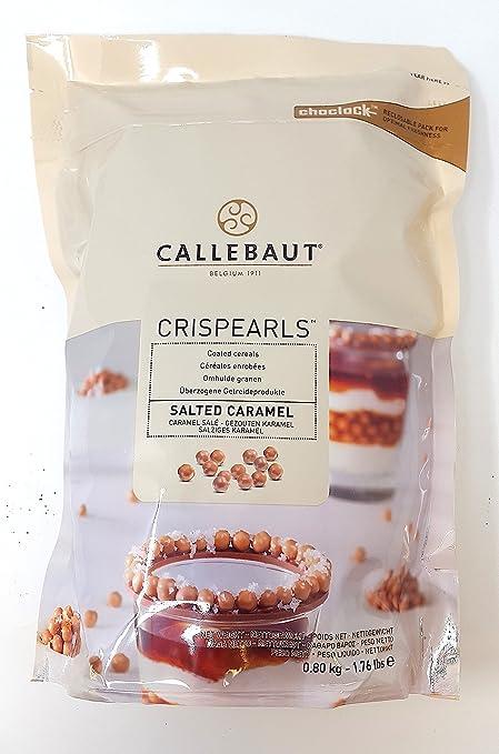 Callebaut Crispearls Caramelo Salado - Perlas de Galleta Tostada (cereales) bañadas con Chocolate con leche con sabor a Caramelo Salado 800g: Amazon.es: ...