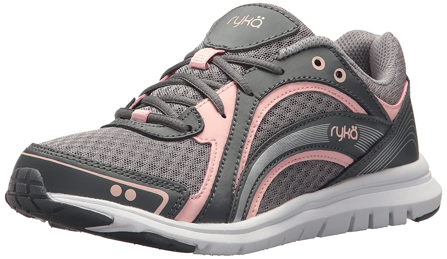 Ryka Women's Aries Walking Shoe B075MKR3F7 5.5 B(M) US|Grey/Rose