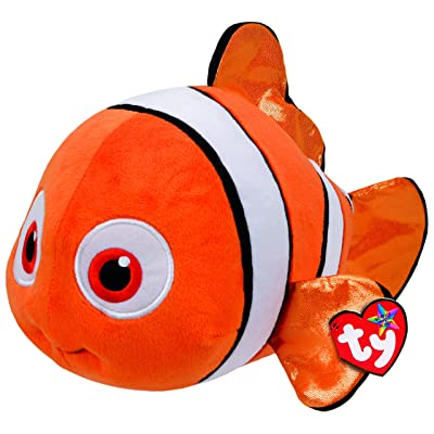 Ty Beanie Babies Finding Dory Nemo Fish Medium Plush: Toys & Games