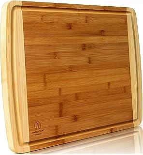 Amazon.com: La Mia Cucina Bamboo Wood Cutting & Chopping Board ...