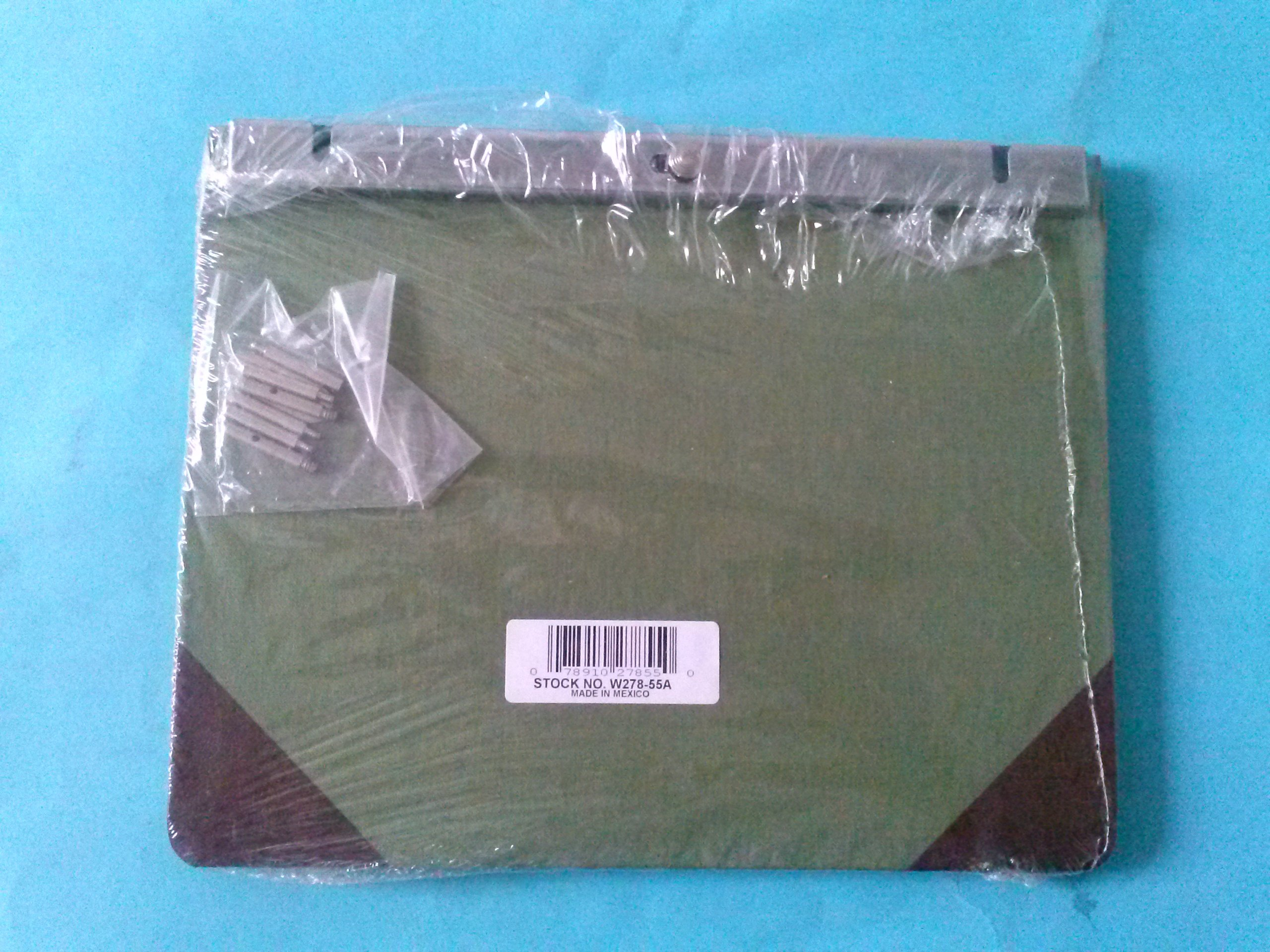 Wilson Jones W278-55A Post Binder Green 11'' x 8 1/2'' Limit 1 Per Customer
