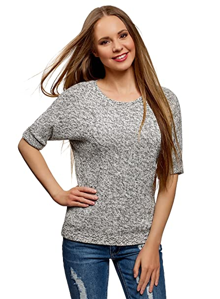 oodji Ultra Womens Sequin Pullover with Bat Sleeves