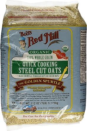 Bob S Red Mill Organic Steel Cut Oats Quick Cooking 22 Oz Vitacost