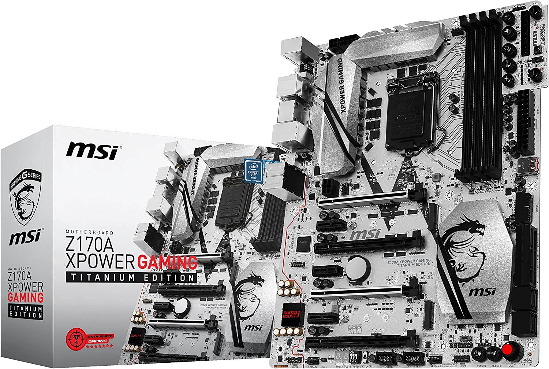 MSI Computer 7968-001R Enthuastic Gaming Intel Z170A LGA 1151 DDR4 USB 3.1 ATX Motherboard (Z170A XPower Gaming Titanium Edition)