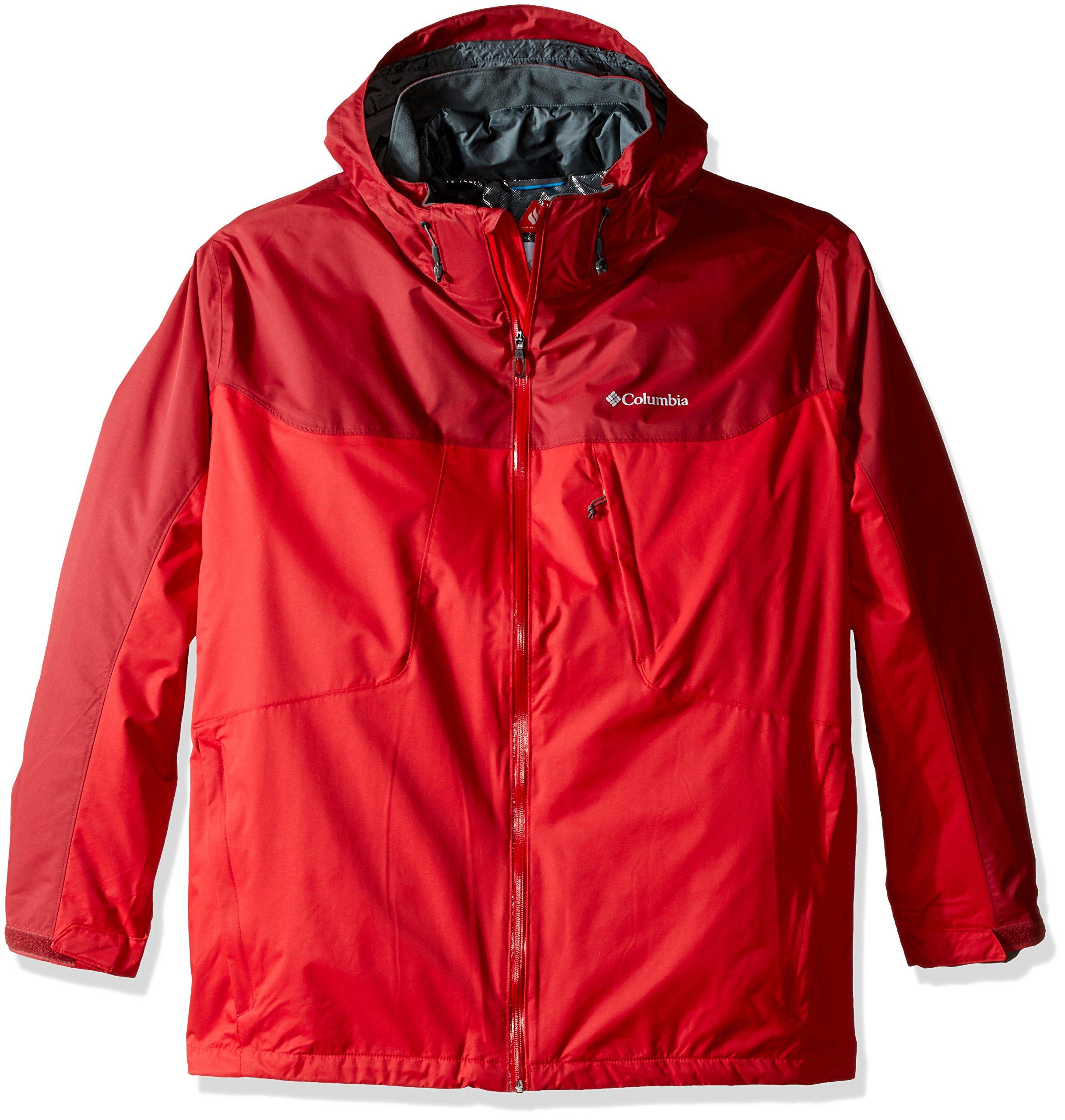 Columbia Men's Whirlibird Interchange Jacket, Mountain Red/Jester Red, 4X