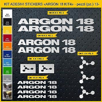 Kit Pegatinas Stickers Bicicleta Argon 18 - Kit 4-13 Piezas- Bike Cycle Cod. 0839 (090 Argento): Amazon.es: Deportes y aire libre