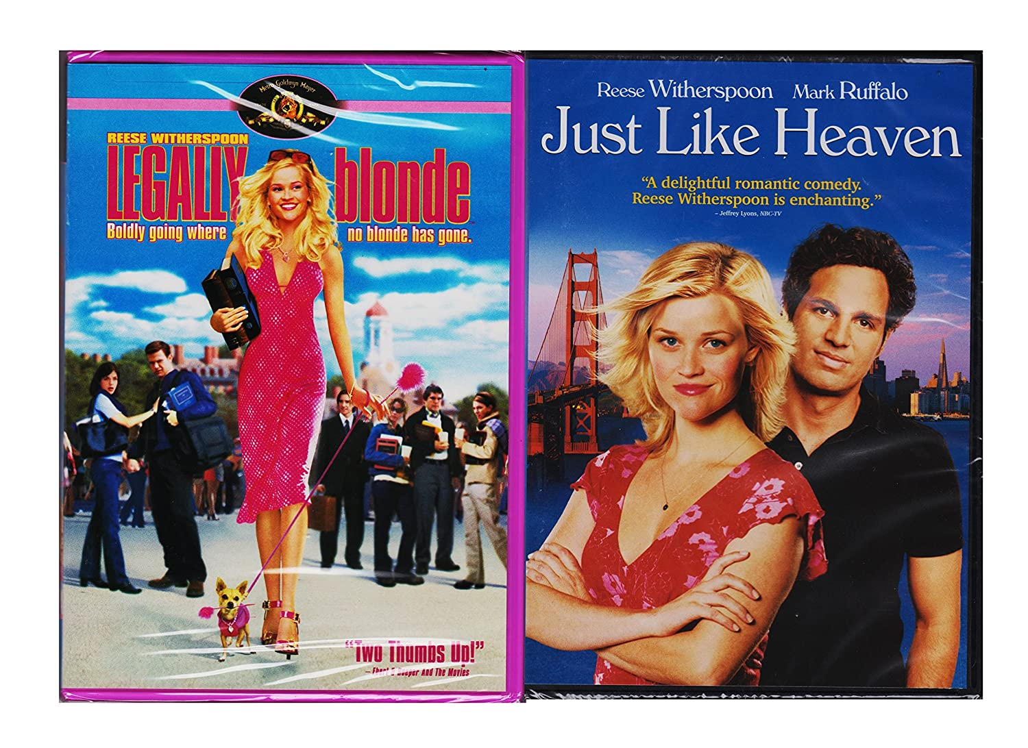 Amazon Com Just Like Heaven Legally Blonde Reese Witherspoon 2 Pack Reese Witherspoon Movies Tv