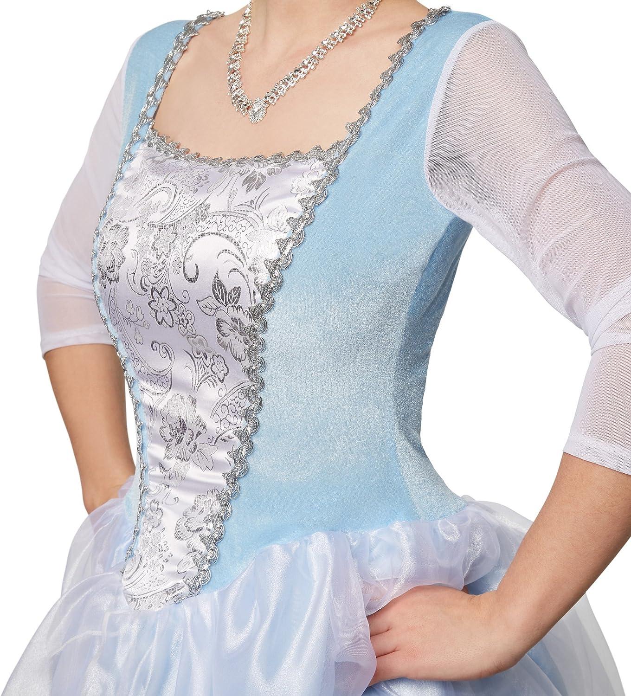 S | no. 301883 dressforfun Disfraz de Princesa Cenicienta Enaguas Brillantes de Tul Vestido de Fiesta Hecho de Tela Brillante