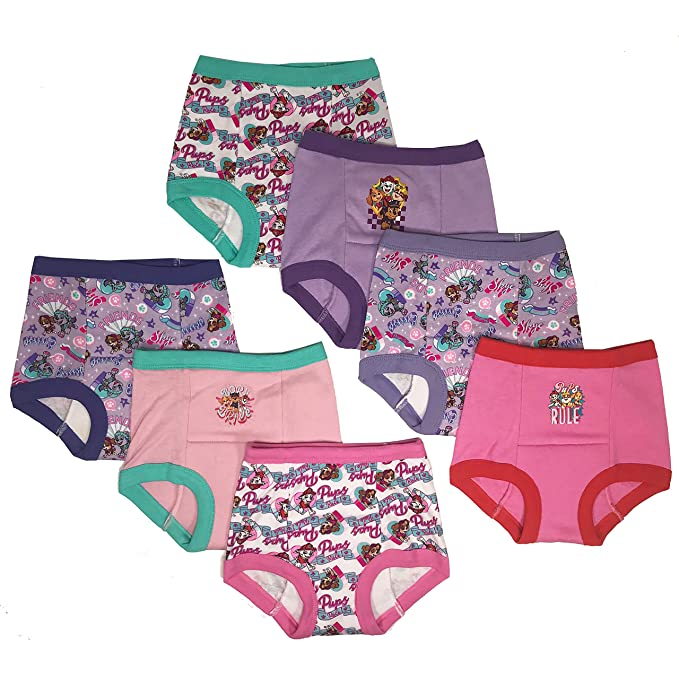 Nickelodeon Toddler Paw Patrol Girls 7 Pack Training Pants, Assorted, 4T