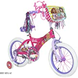 "Dynacraft Barbie Girls BMX Street Bike 16"", Pink/White/Purple"