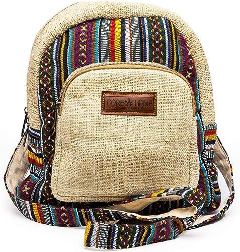 Core Hemp Mini Backpack Boho Hippy Bag Color , Color, Size One_Size