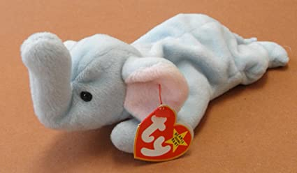 49115691208 Image Unavailable. Image not available for. Color  TY Beanie Babies Peanut  the Elephant Plush Toy Stuffed Animal