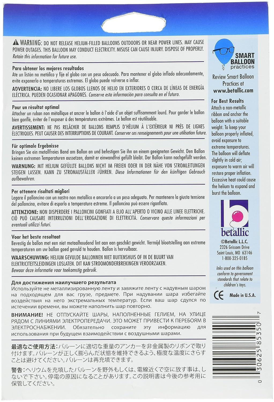 19 Betallic 85350P Birthday Purple Star Balloon Pack