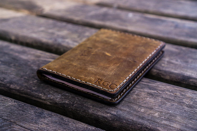 NO.06 Leather Passport Wallet Crazy Horse Brown
