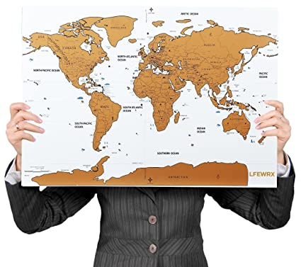 Amazon scratch off world map poster large 32 x 225 scratch scratch off world map poster large 32quot x 225quot scratch off map gumiabroncs Image collections