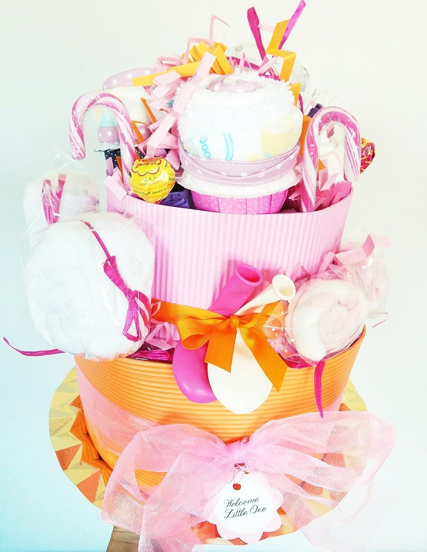 Tarta de Pañales MAXI (para Gemelos o para un Maxi Regalo a una Bebé ...