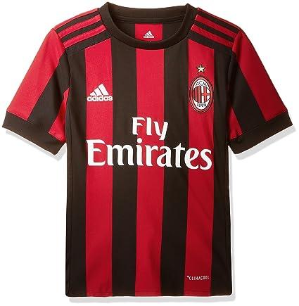 3a3180fcfb1 Amazon.com   adidas 2017-2018 AC Milan Home Shirt (Kids)   Sports ...