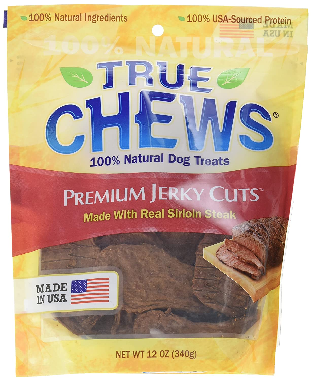 True Chews Sirloin Steak Jerky Filets, 12-Ounce, 6-Pack