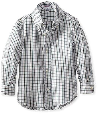 1cca7ee9 Amazon.com: Kitestrings Little Boys' Toddler Boy Long Sleeve Button Front  Shirt, Cream Multi Plaid, 2T: Button Down Shirts: Clothing