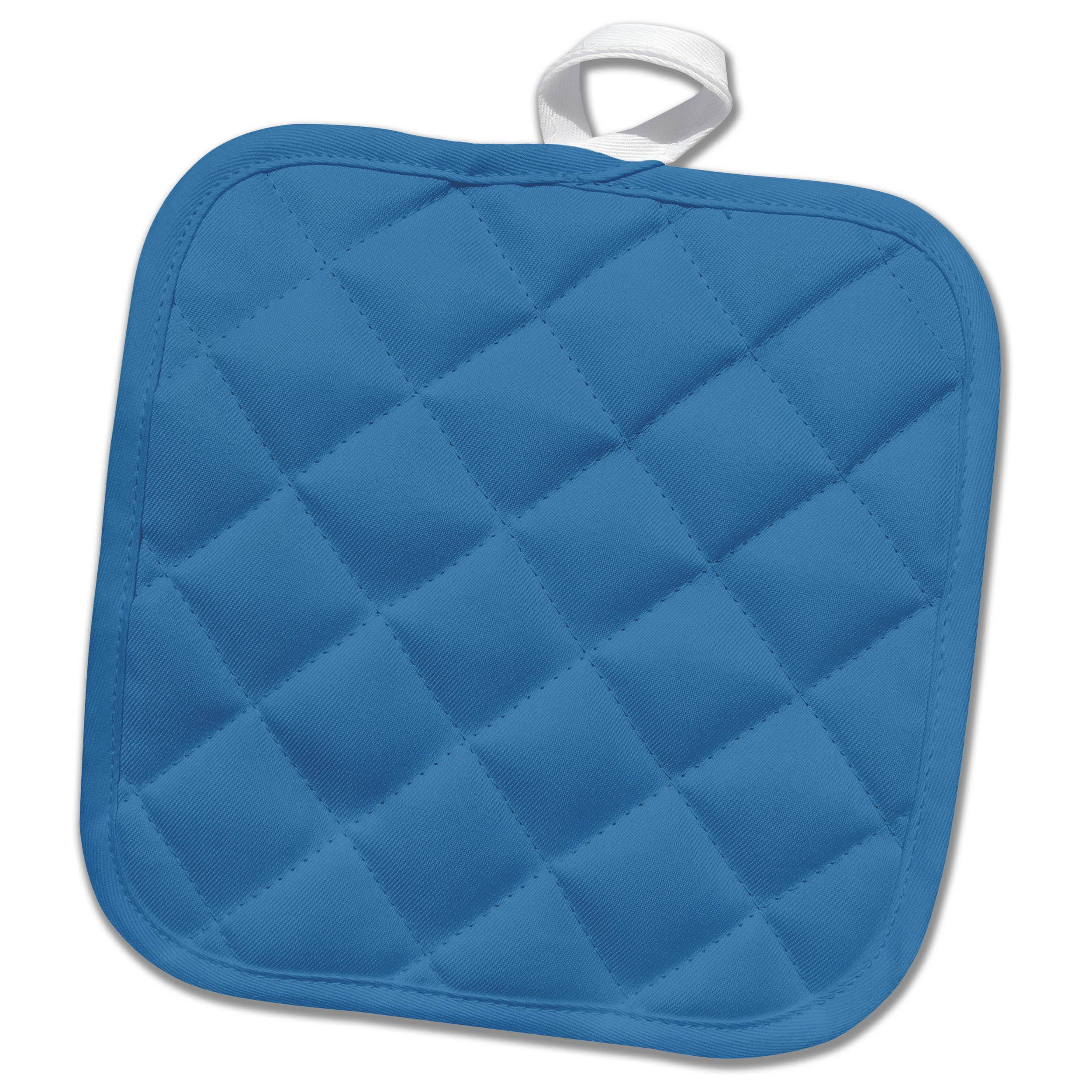 3dRose Kultjers Colors - Color steel blue - 8x8 Potholder (phl_284776_1)