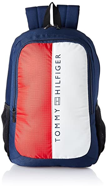 712d89f5cb Tommy Hilfiger 19.53 Ltrs Navy Laptop Backpack (TH BIKOL08HRP)  Amazon.in   Bags