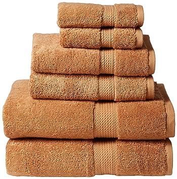 Amazon.com: Superior 900 GSM Luxury Bathroom 6-Piece Towel Set ...