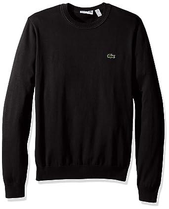 Lacoste Men's Cotton Jersey Crew Neck Sweater, Ah7901-51 at Amazon ...