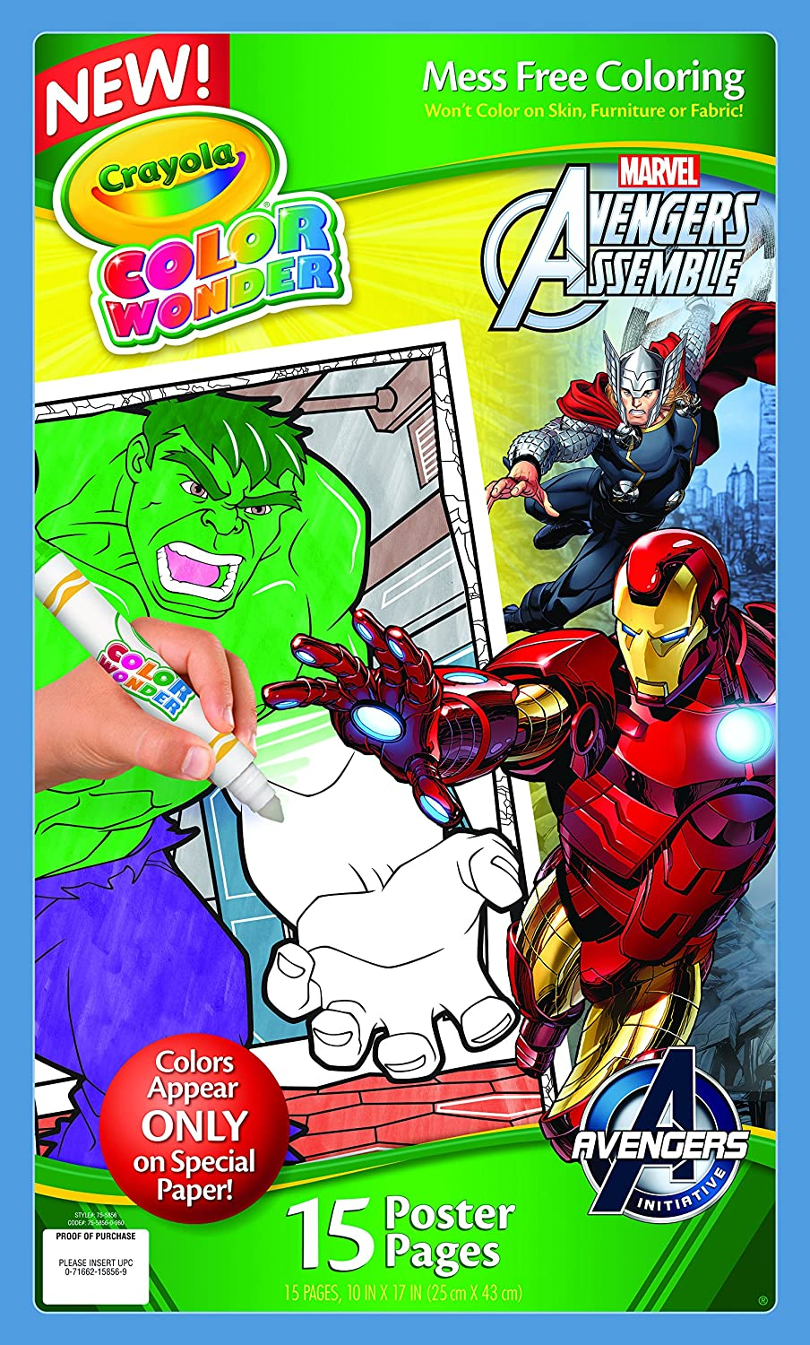 Amazon.com: Crayola Color Wonder Poster Pages, Avengers: Toys & Games