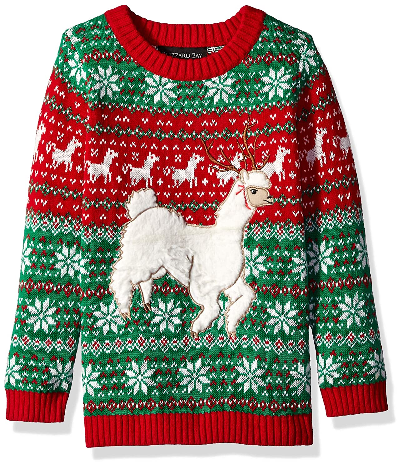 Blizzard Bay Boys Long Sleeve Crew Neck Alpaca Ugly Christmas Sweater