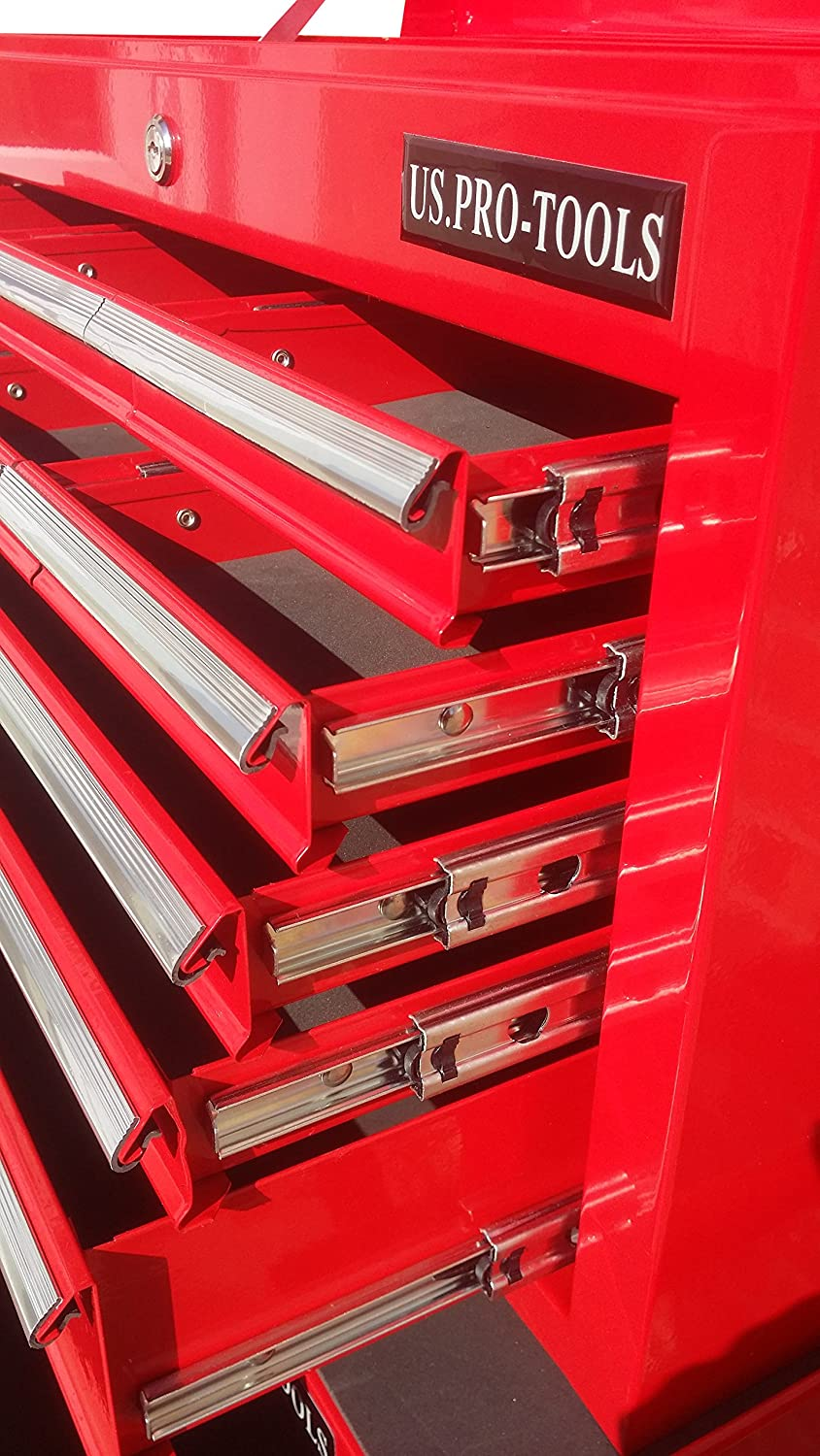 US PRO TOOLS AFFORDABLE TOOL CHEST BOX TOOL CABINET 9 DRAWER BALL BEARING DRAWERS