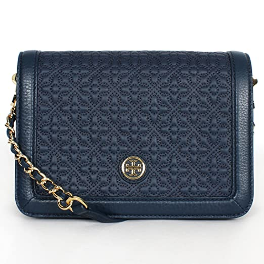 4dff795c0096d7 Amazon.com  Tory Burch Bryant Ladies Small Quilted Combo Leather Crossbody  Bag 18169684482  Watches
