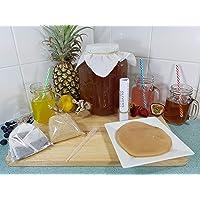 4lt Kombuhca Kit, Organic Scoby, Strong Starter Tea, Easy Instructions, BPA Free