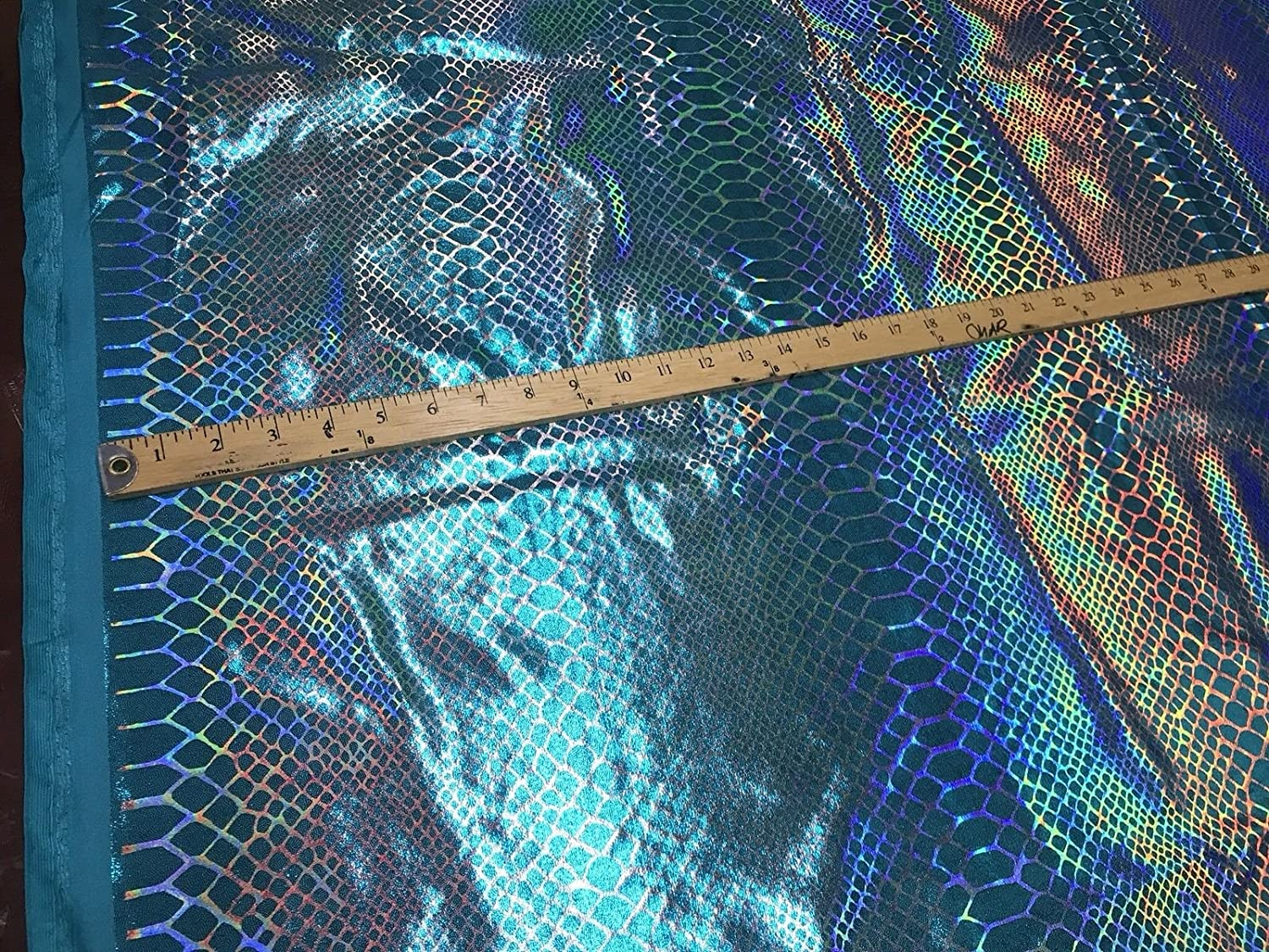New iridescent metallic nylon spandex dragon design 4way stretch 5860 Sold by the YD Ships worldwide from Los Angeles California USA.