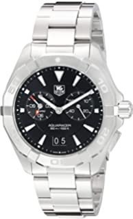8b2130a7ded Tag Heuer Aquaracer Chronograph Black Dial Stainless Steel Mens Watch  WAY111Z.BA0928