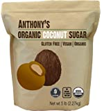 Anthony's Organic Coconut Sugar 5lbs, Brown, Unrefined, Non-GMO and Gluten Free