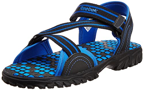 e2be72f7a9e3f Reebok Men s Active Gear Lp Black and Blue Sandals and Floaters - 7 UK  Buy  Online at Low Prices in India - Amazon.in