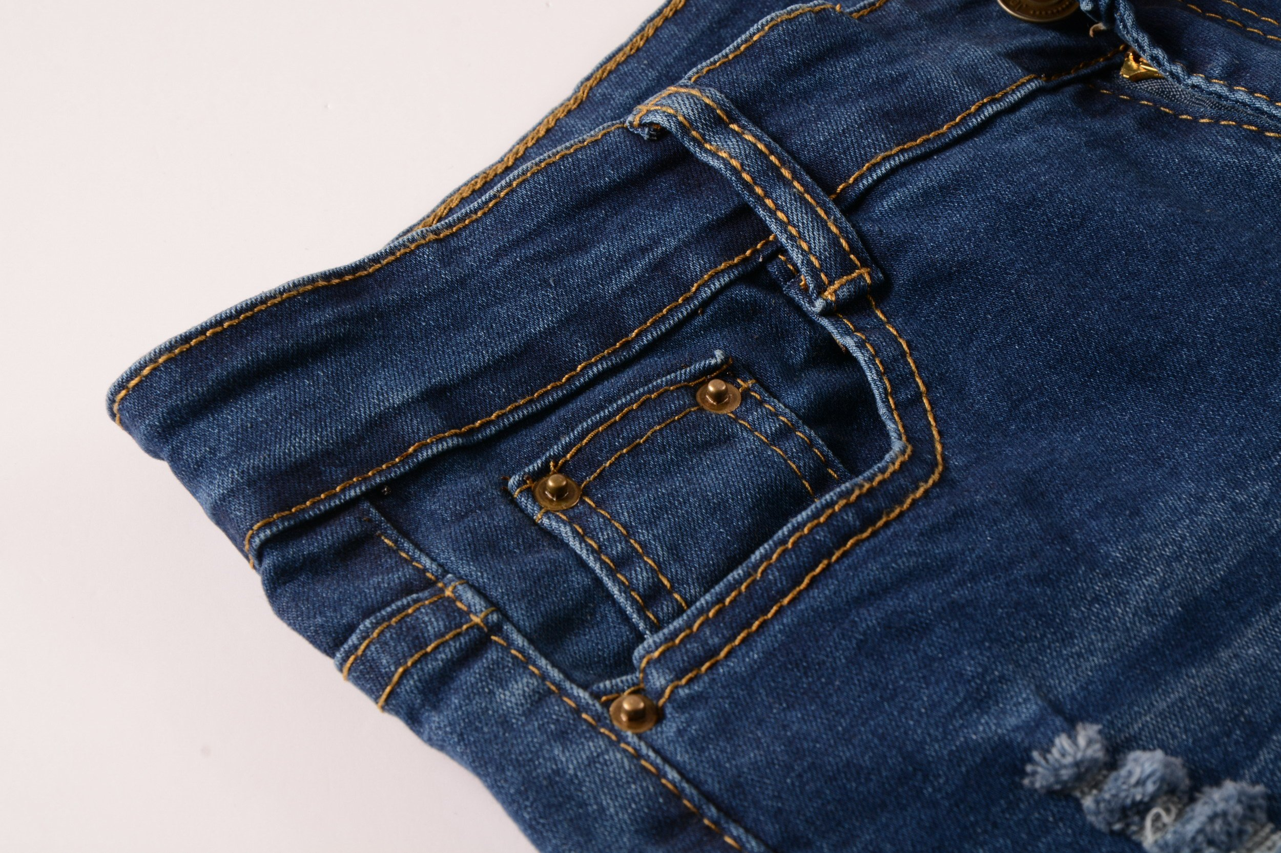 Boy's Fashion Skinny Fit Ripped Distressed Stretch Slim Denim Jeans with Holes 14 by DEITP (Image #3)