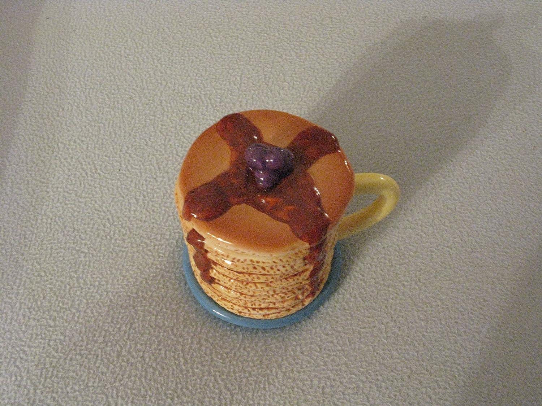 De pila de panqueques de cerámica con tapa esencia/dispensador de jarra para leche: Amazon.es: Hogar