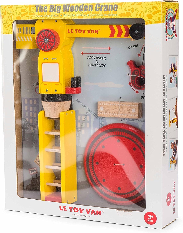 Le Toy Van The Big Wooden Crane juguete de construcción gira, gira, se mueve, agarre y liberación , color/modelo surtido