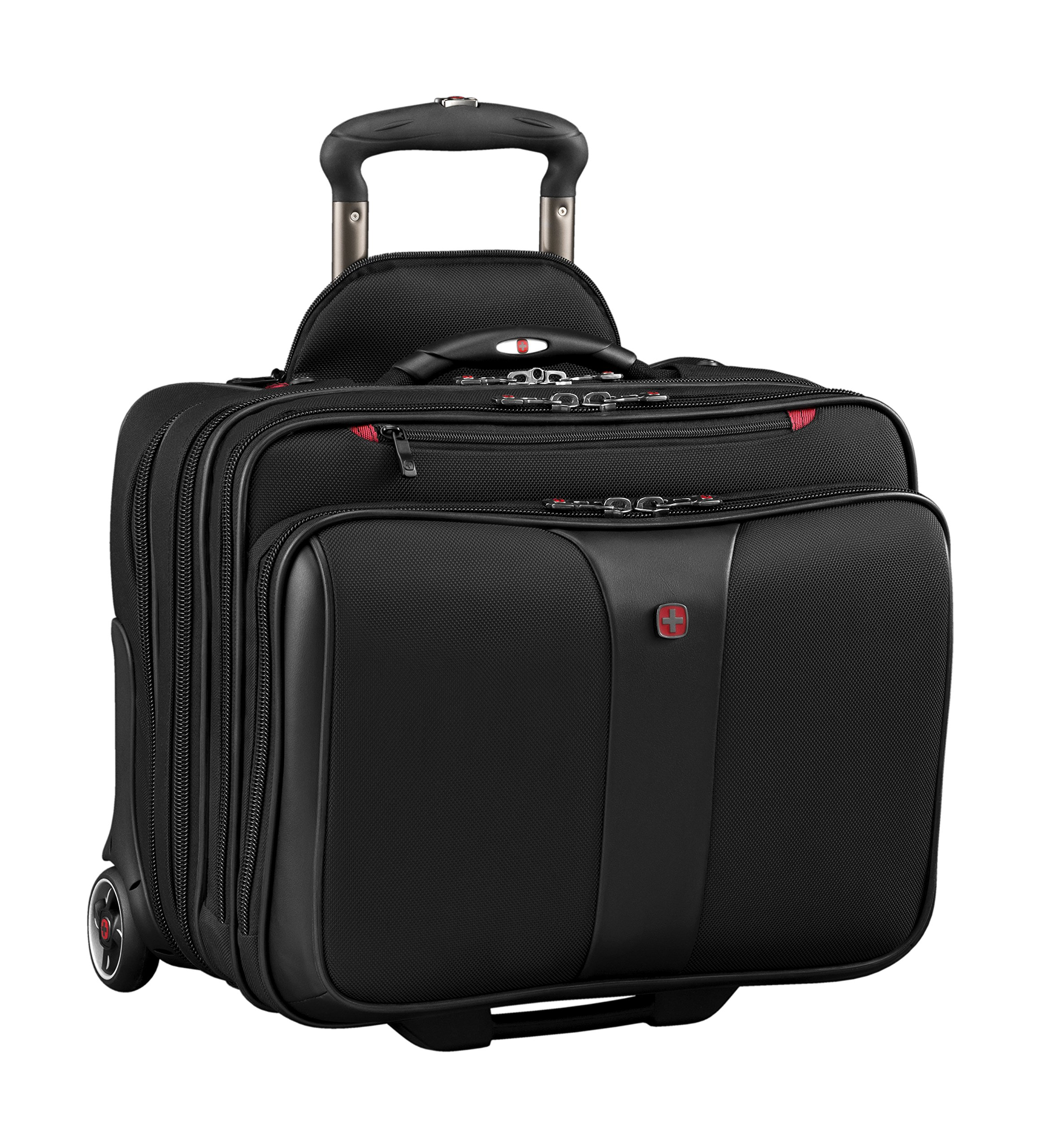 Wenger Luggage Patriot Ii 2-Piece 15.6'' Wheeled Business Set Laptop Bag, Black, One Size