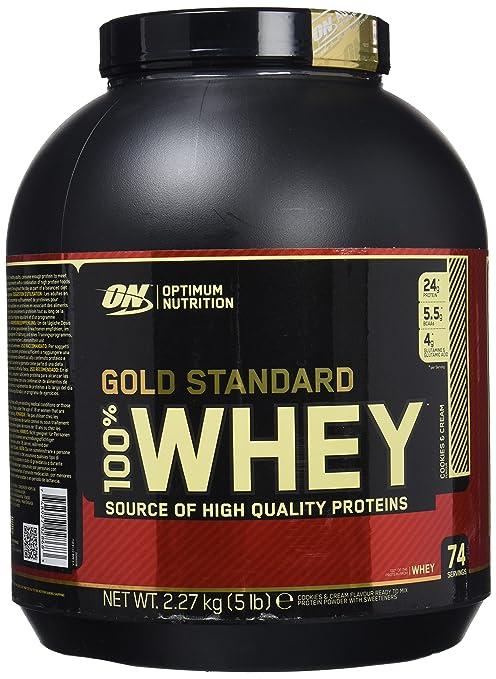 Optimum Nutrition Gold Standard 100% Whey Proteína en Polvo, Galletas y Crema - 2270