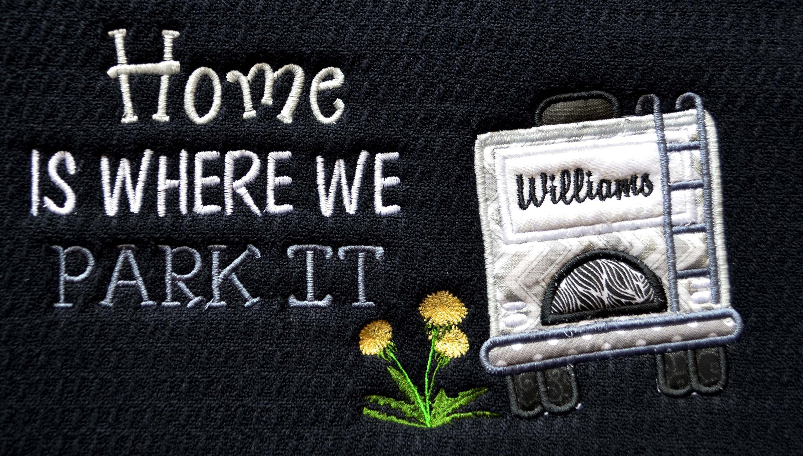 Custom Dish Drying Mat, Coffeepot Mat, RV Decor, Camping Decor, Quality 16''x18'' Schroeder and Tremayne Mat, Machine Wash/Dry, Choice of Mat and RV Colors, (Option to add name to rear window)