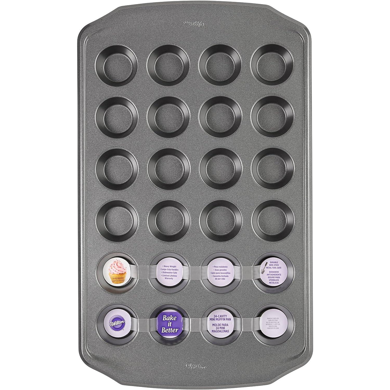 Amazon.com: Wilton Bake It Better 24-Cavity Mini Muffin Pan: Kitchen & Dining