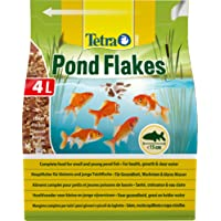 Tetra Pond Flake, Complete and Varied Fish Food for Young and Small Pond Fish, 4 Litre