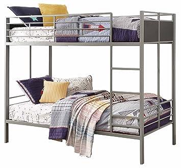 Amazon Com Homelegance B2033 1 Twin Twin Folding Metal Bunk Bed