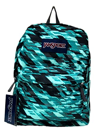 Amazon.com: Jansport Superbreak Backpack! (Aqua Dash Static ...