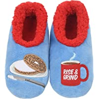 Snoozies Womens Classic Splitz Applique Slipper Socks | Cozy Womens Slipper Socks | House Slipper Socks for Women | Cozy Slippers | Multiple Styles and Sizes
